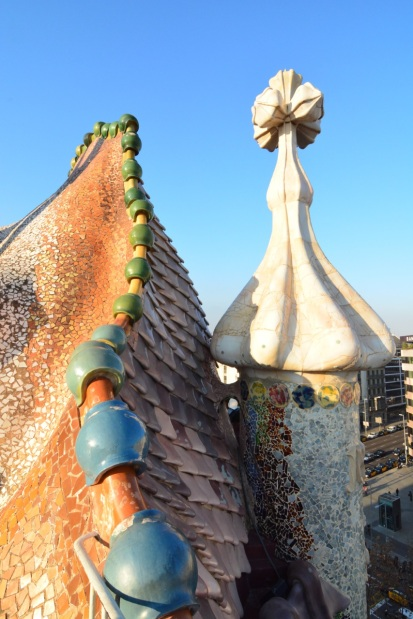 The dragon back roof of Casa Batlo