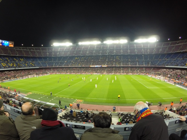 Camp Nou, the third biggest football stadium in the world.