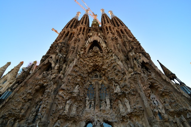 The Segrada Familia Nativity Facade.