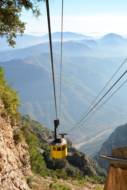 The cable car up to the mountain.